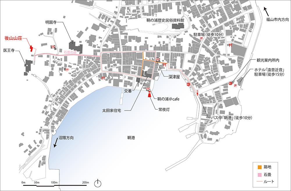 鞆町案内図